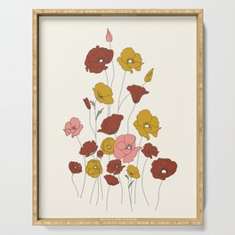 Colorful Poppy Flowers Serving Tray