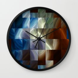 Metal Squares Wall Clock