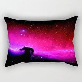 Galaxy : Horsehead nEbUlA Pink Red Purple Rectangular Pillow