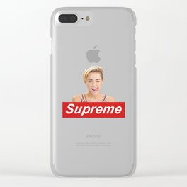 miley crus supreme Clear iPhone Case