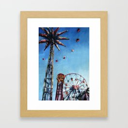 Spinning in the Sky Framed Art Print