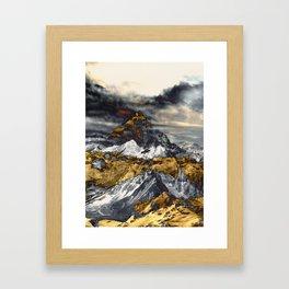 Gold Mountain Framed Art Print