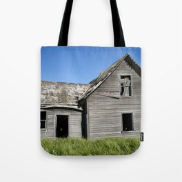 Old Grey Farm House Tote Bag