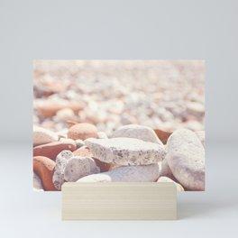 AFE Beach Rocks, Beach Photography Mini Art Print