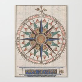 Historical Nautical Compass (1543) Canvas Print