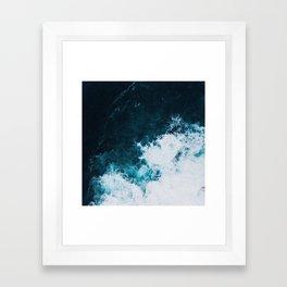 Wild ocean waves II Framed Art Print