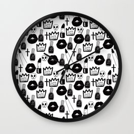 the goth queen Wall Clock