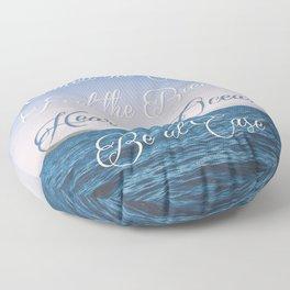 Hear the Ocean, Be at Ease Floor Pillow