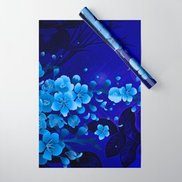 Cherry blossom, blue colors Wrapping Paper