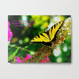 Always Hope - Butterfly with Quote Metal Print