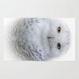 Dreamy Encounter with a Serene Snowy Owl Rug