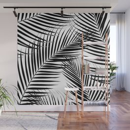 Palm Leaves - Black & White Cali Vibes #1 #tropical #decor #art #society6 Wall Mural