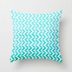 Maritime Aqua Teal Chevron Herringbone ZigZag - Mix & Match Throw Pillow
