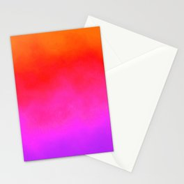 Gradient orange red violet Stationery Cards