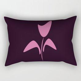 Cute Pink Ink Art Tulip Flower Rectangular Pillow