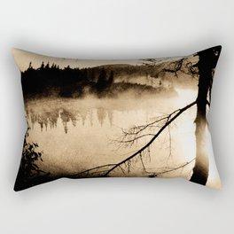 Photo of Northern Lake, dark spirit Rectangular Pillow