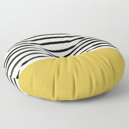 Mustard Yellow & Stripes Floor Pillow