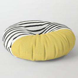 Mustard Yellow & Stripes Floor Pillow