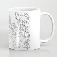 lab Mugs featuring Futuristic lab by Lazaros