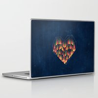 interstellar Laptop & iPad Skins featuring Interstellar Heart II by VessDSign