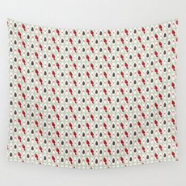 Cardinals Damask - White Wall Tapestry