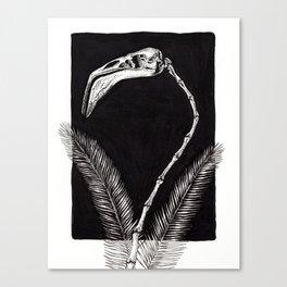 Flamingo Skeleton Canvas Print
