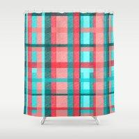 plaid Shower Curtains featuring Plaid by Nichole B.