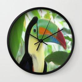 Keel billed Toucan  Wall Clock