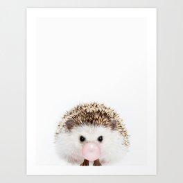 Bubble Gum Hedgehog Art Print