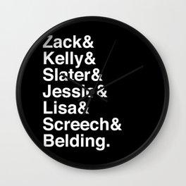 Saved by Zack & Kelly & Slater & Jessie & Lisa & Screech Wall Clock