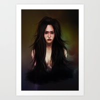 three of the possessed Art Prints featuring possessed by Audrey Lopez