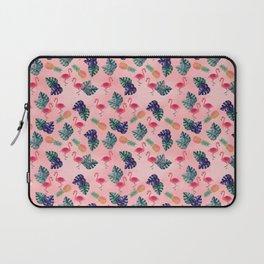 Tropical, Flamingo, Pineapple, Summer Fling Laptop Sleeve