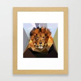Lion Techy Art Framed Art Print