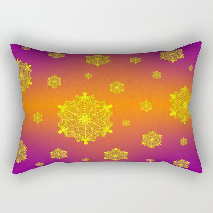 Snowflake Sunset Rectangular Pillow