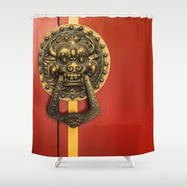 Chinese Lion Shower Curtain