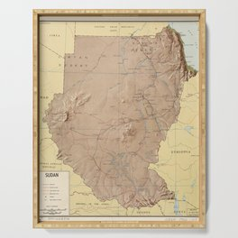 Map of Sudan (1963) Serving Tray
