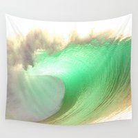rush Wall Tapestries featuring Pipeline Rush by Scott Aichner