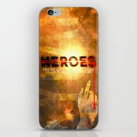 heroes iPhone & iPod Skins featuring HEROES by Michael Scott Murphy