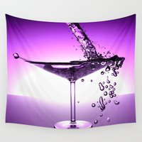 martini Wall Tapestries featuring Martini by Littlebell