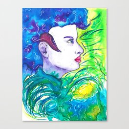 Girl in the city jungle Canvas Print