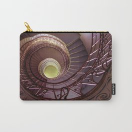Spiral staircase in red and golden tones Carry-All Pouch