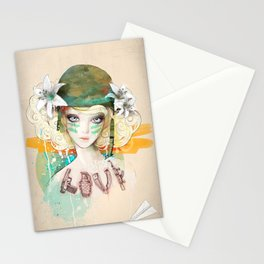 War girl Stationery Cards