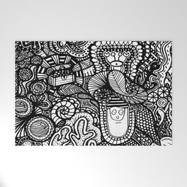 Under the Sea Doodle Welcome Mat