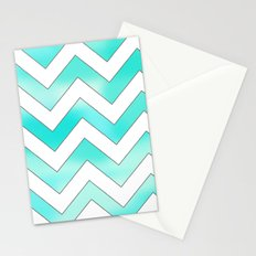 Blue Chevron Stationery Cards