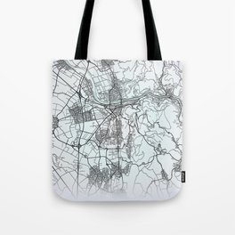 Heidelberg, Germany, White, City, Map Tote Bag