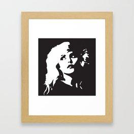 Blondie, Music Legend, Black, White, Cinema, Art, Author, Song Writer, Musician, Punk, Framed Art Print