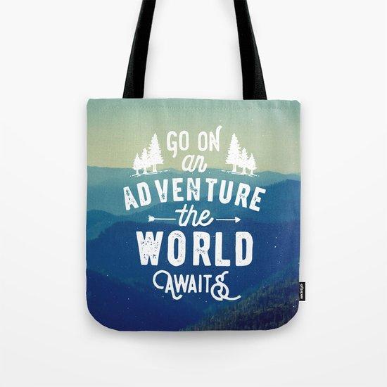 Adventure Quote Tote Bag