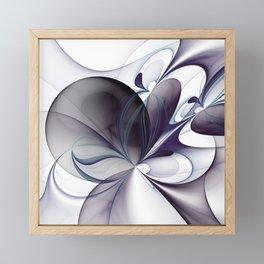 Easiness, Abstract Modern Fractal Art Framed Mini Art Print