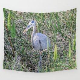 Hello Blue Heron Wall Tapestry