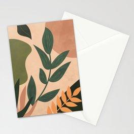 Abstract Shapes, Boho, Botanical Stationery Cards